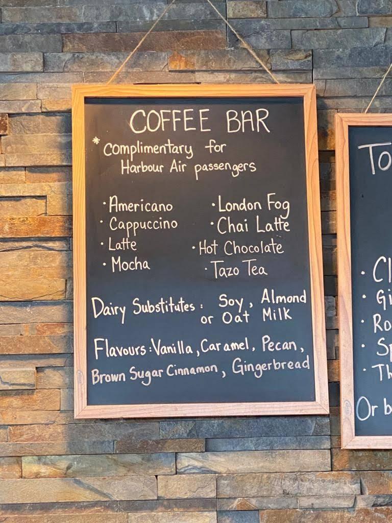 Harbour Air coffee bar