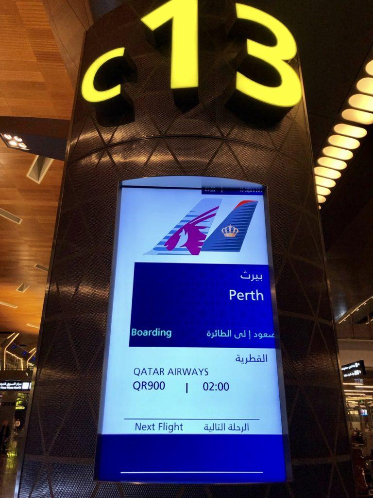 Boarding gate at Doha Airport