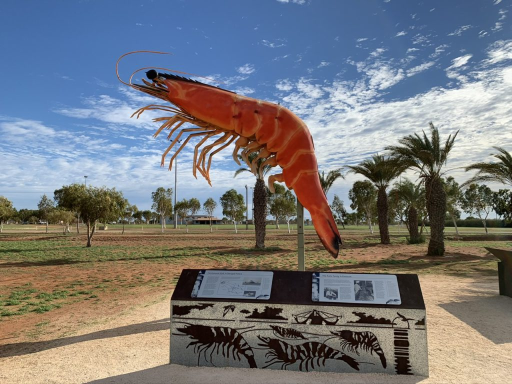 The famous Giant Prawn in Exmouth, WA