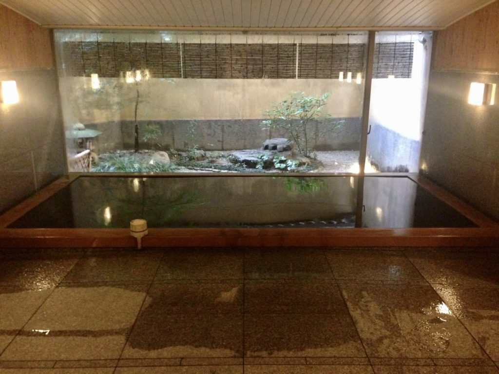 Bath house at a Ryokan in Kyoto, Japan