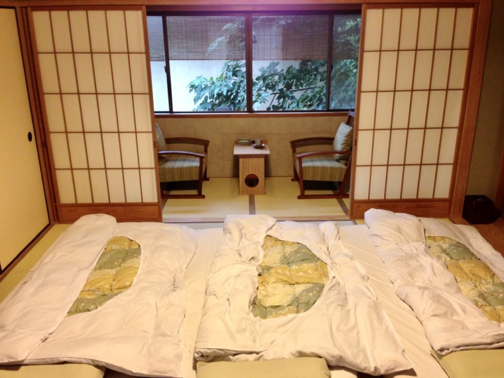 Room at a Ryokan in Kyoto, Japan
