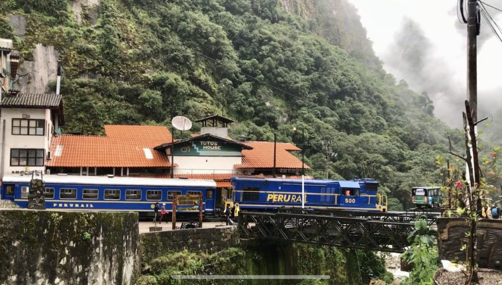 Machu Picchu train, Aguas Calientes, Peru