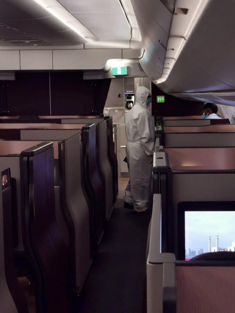 Qatar Airways Hazmat Suit