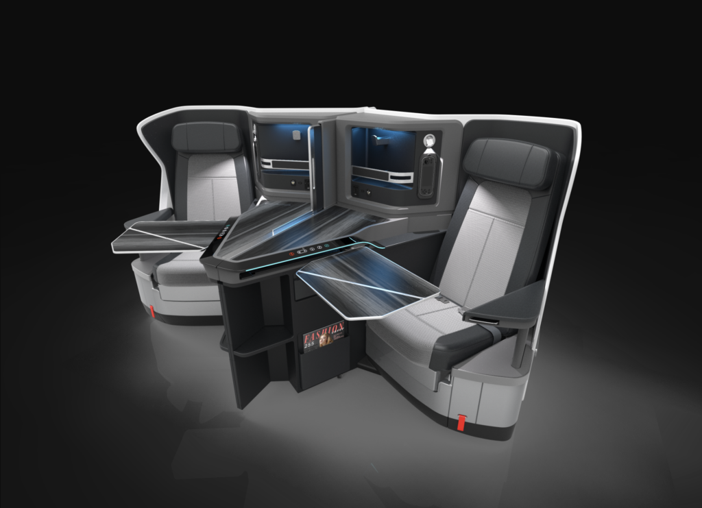 KLM's new JAMCO business class seat