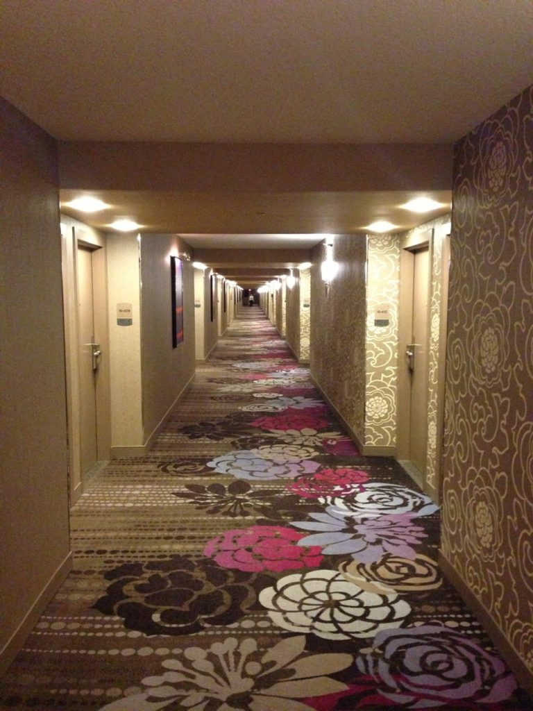 Hotel corridor in the MGM Grand Las Vegas