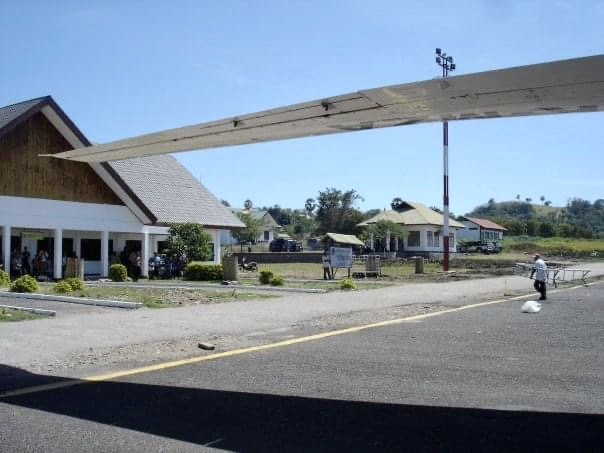 Arriving at Labuan Bajo Airport, Flores, Indonesia