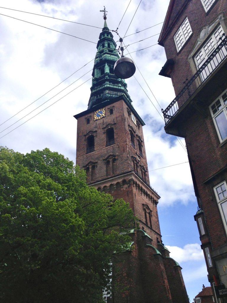 Typical street scene in Copenhagen, Denmark