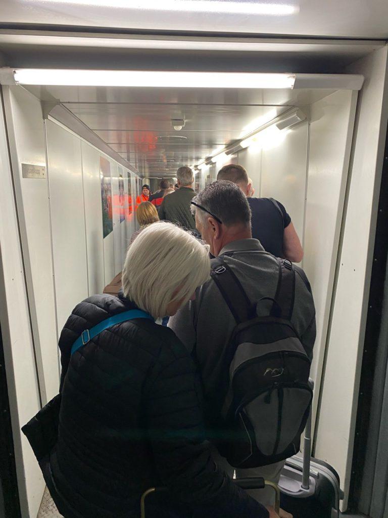 Boarding on Easyjet A320