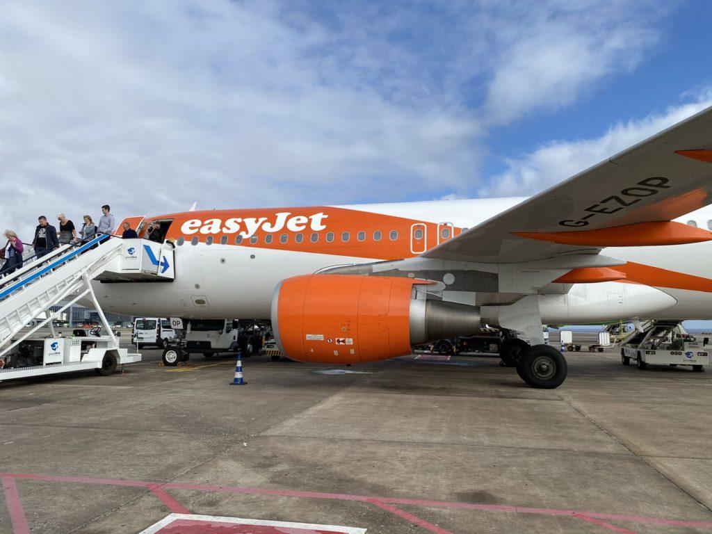 Arriving on an Easyjet A320