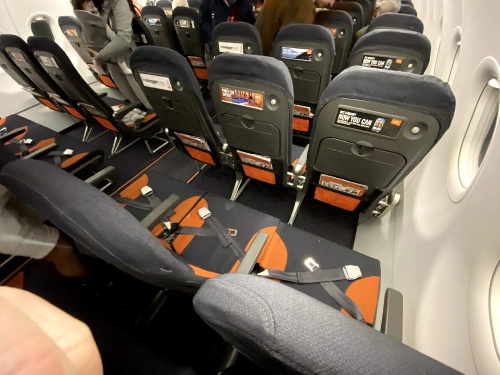 Standard seat row on Easyjet A320
