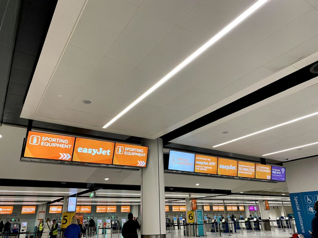 Easyjet check-in at London Gatwick