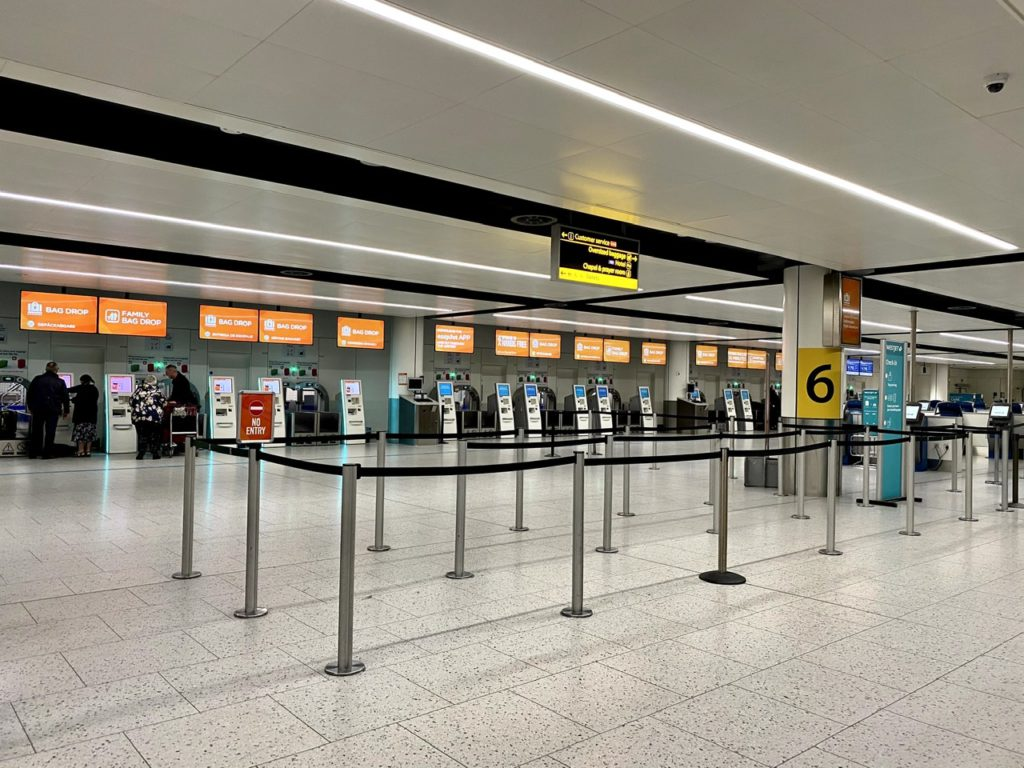 Easyjet's check-in area at London Gatwick