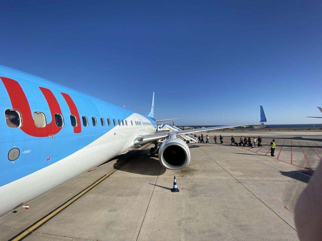 Tui 737 at Las Palmas de Gran Canaria