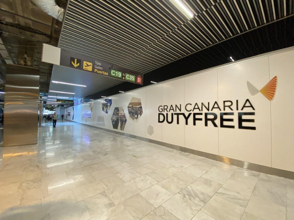 Duty-free after security at Las Palmas de Gran Canaria