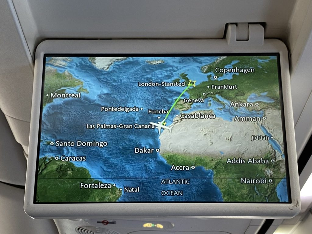 Moving map on Tui 737 from Gran Canaria