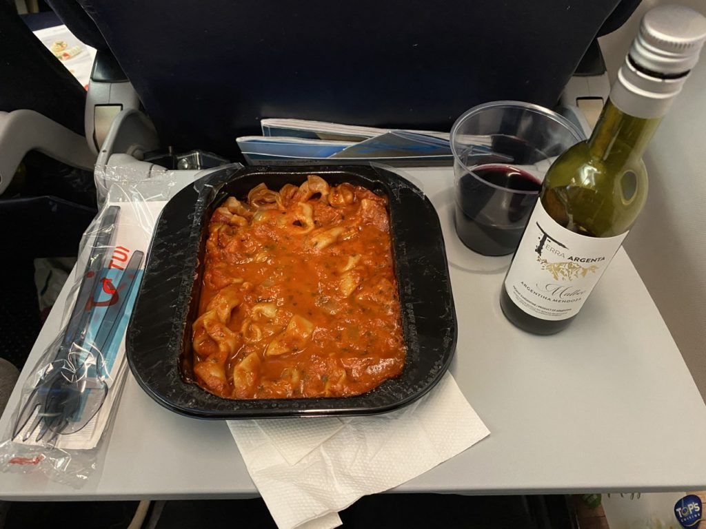 Pasta on Tui 737 from Gran Canaria