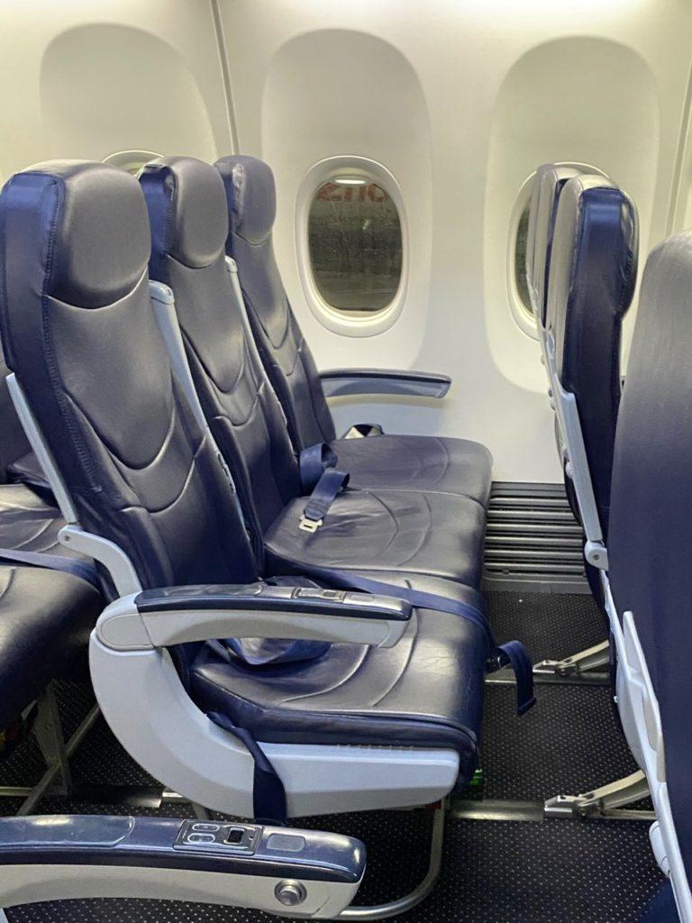 Row 3 A-C Extra legroom seats on Tui 737 Gran Canaria to London