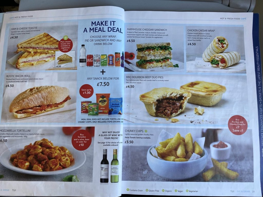 Hot food on Tui 737 from Gran Canaria