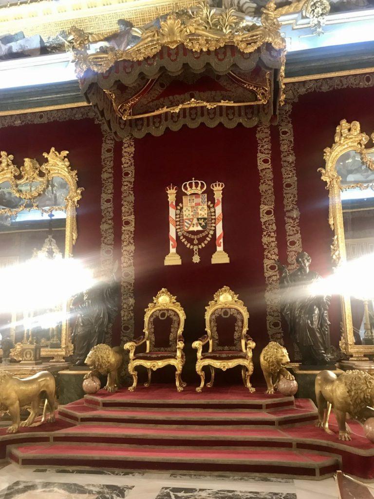 Throne room at Palacio Real de Madrid, Spain