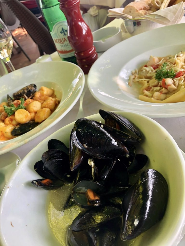 Dining in Lombardy, Italy