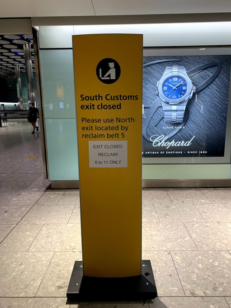 Baggage reclaim Heathrow