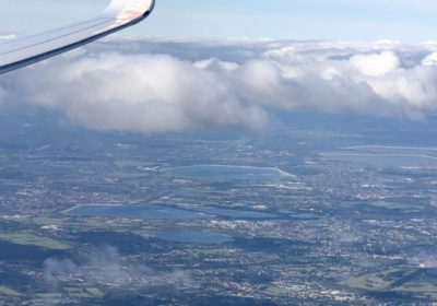 UK from A350 wing tip