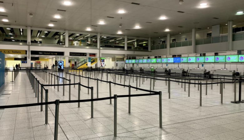 Gatwick check-in area