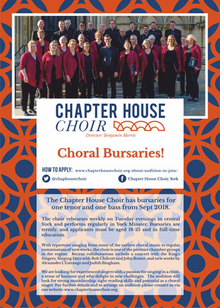 Choral Bursaries Flyer
