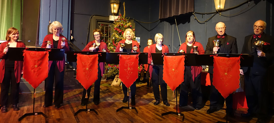 Handbells in the Milton Rooms, Christmas 2017