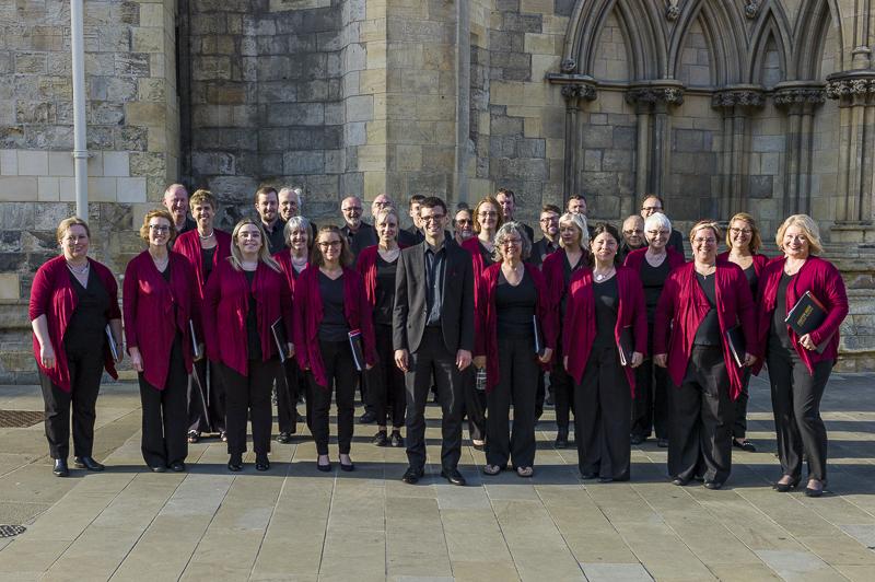 The Chapter House Choir outside York Minster, June 2018