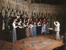 The choir with Peter Young 1982-1988