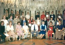 The choir in 1982 with Andrew Carter