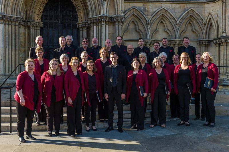 The Chapter House Choir outside York Minster,  June 2018