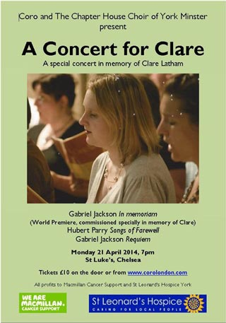Concert for Clare poster