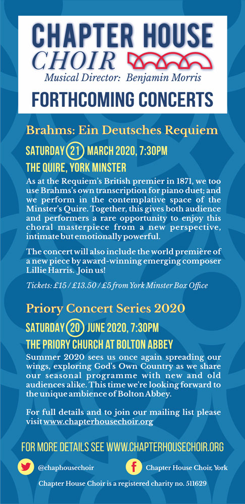 Forthcoming Concerts flyer