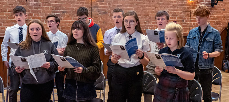 The Chapter House Youth Choir in rehearsal, 2019