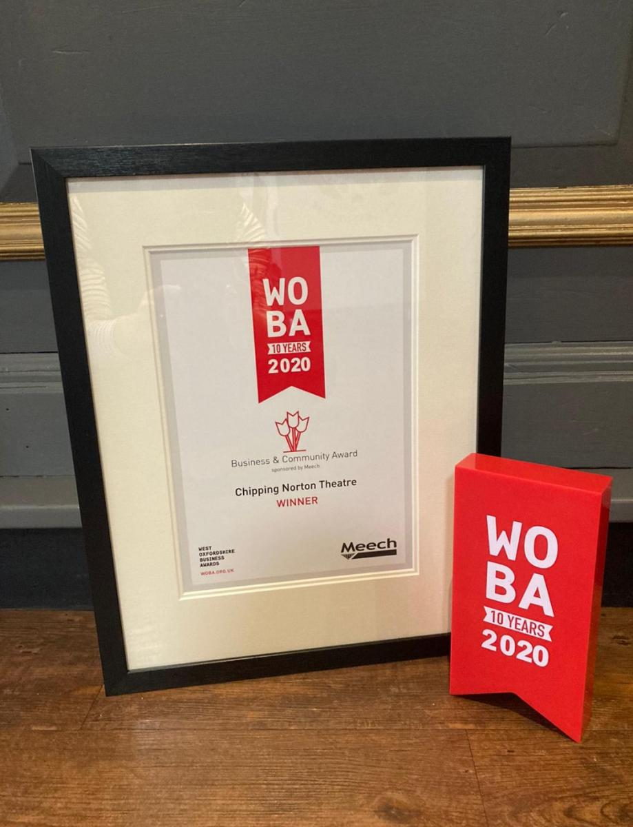 WOBA Certificate and trophy