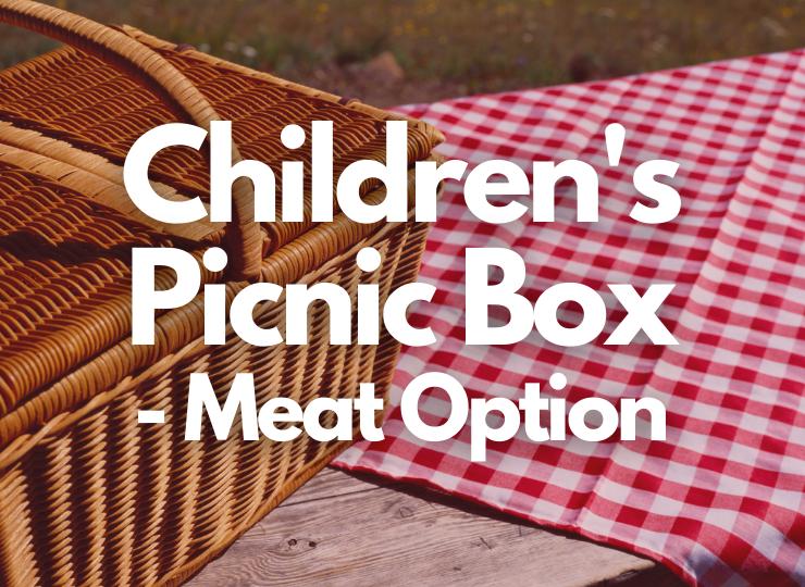 Tea Set Children's Picnic Box - Meat option