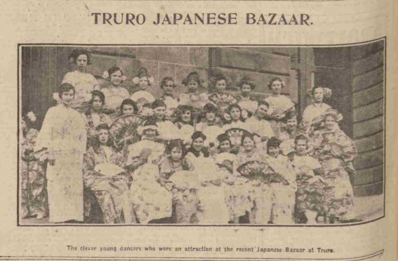 'Japanese' entertainment in 19th and 20th century Truro