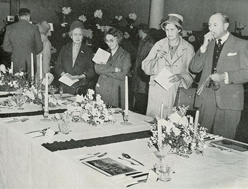 Judging the Constance Spry Cup Competition at City Hall, 1961