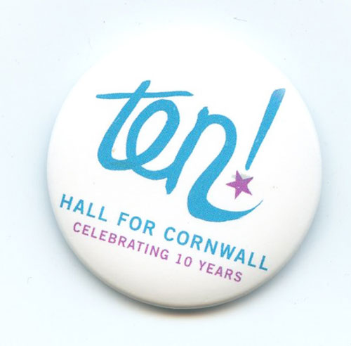 Badge, 10 Years of Hall For Cornwall