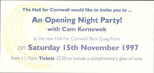The opening of Hall For Cornwall