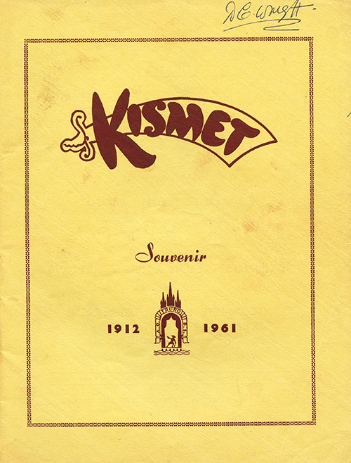 Programme cover for Kismet at City Hall