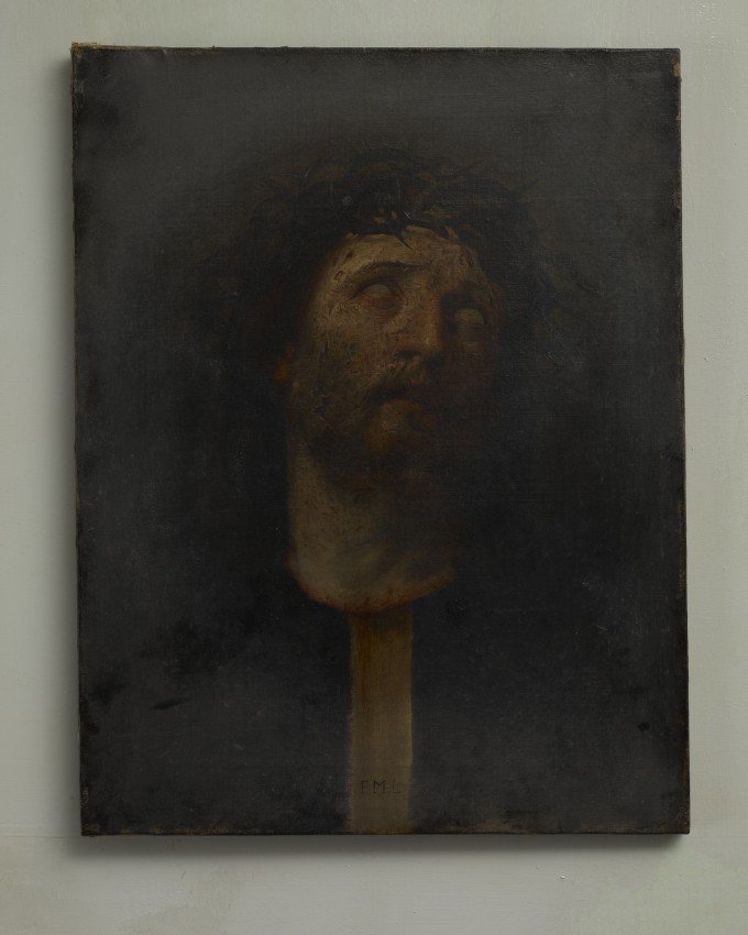 'God Does Not Love You - F.M.L.', oil on canvas