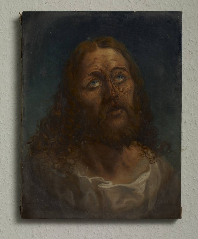 'God Does Not Love You - W.T.F.', oil on canvas