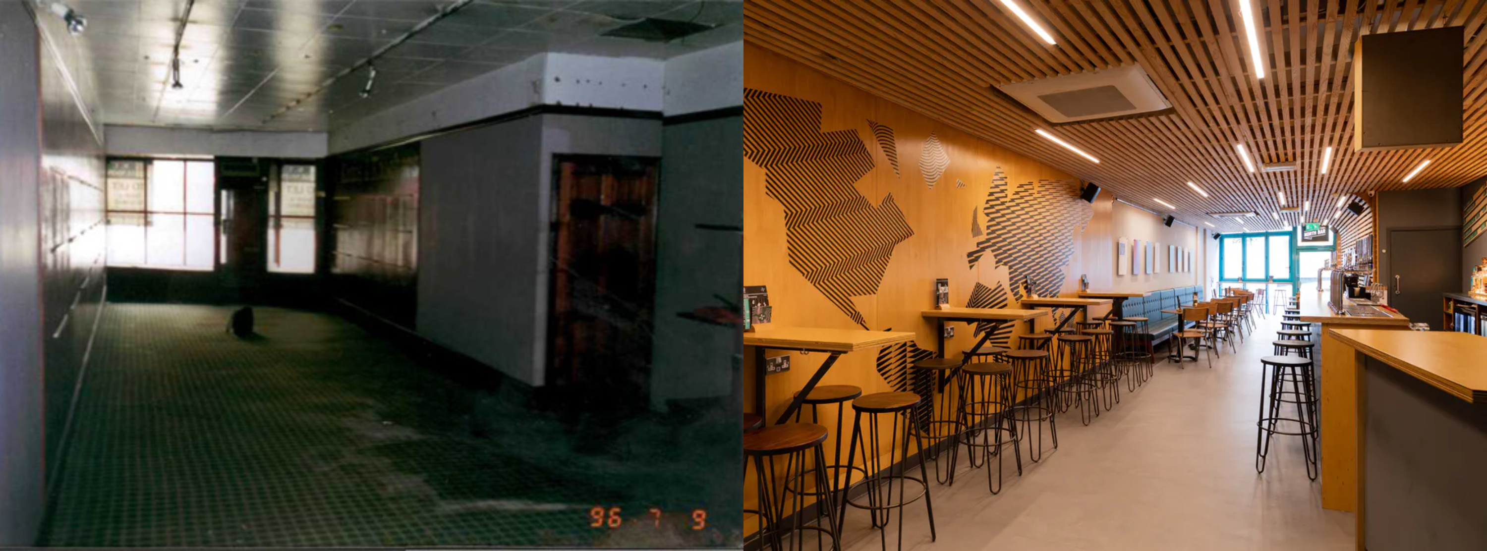 Before and After of North Bar