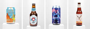 Beer and art bottles and cans featured