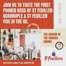 Join us and Pierre from Brasserie @st.feuillien at @cavernofthecuriousgnome this Thursday to try the first UK pours of their Quadruple and Five Blonde. For more info contact the Venue. #belgianbeer #belgianclassics #craftbeer #tasting #firsttime