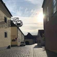 Easing into the week with a trip to @schneiderweisse in picturesque Kelheim.