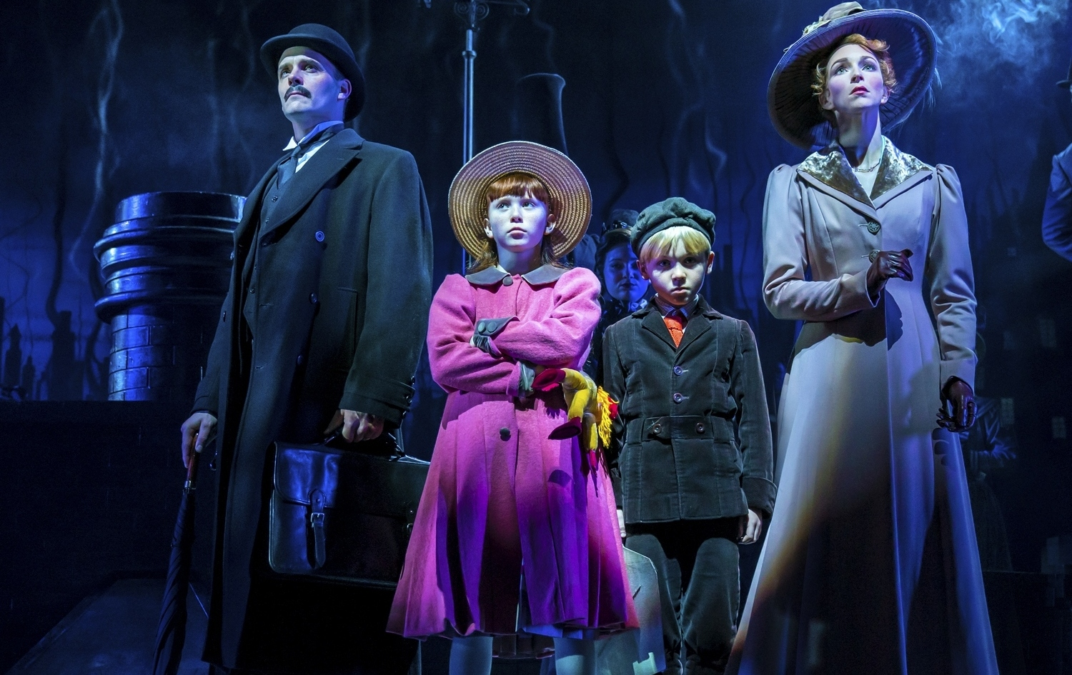 Joseph Millson, Amy Griffiths and Company in Mary Poppins - Photograph Johan Persson
